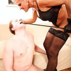 Mature lady domination, pussy licking, pissing: image 91
