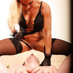 Mature lady domination, pussy licking, pissing: image 108