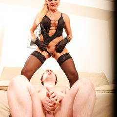 Mature lady domination, pussy licking, pissing: image 119