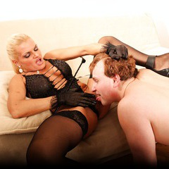 Mature lady domination, pussy licking, pissing: image 134