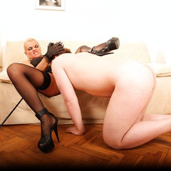 Mature lady domination, pussy licking, pissing: image 139