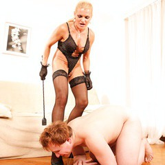 Mature lady domination, pussy licking, pissing: image 150