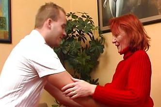 Redhead mature mom fucking